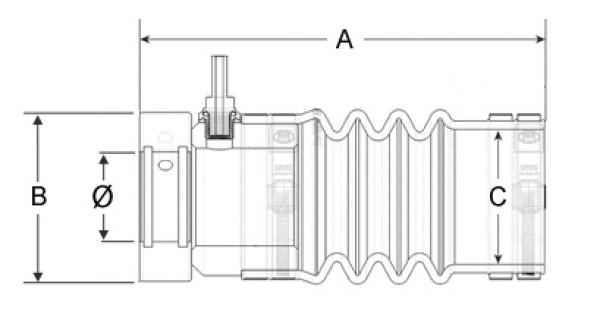 Ø45/ Ø 95-98 mm PSS Akselitiiviste
