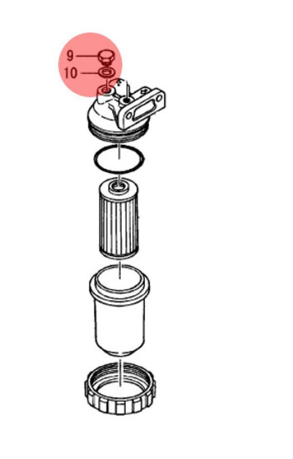Tiiviste  GASKET, 8X1.0 (#10)