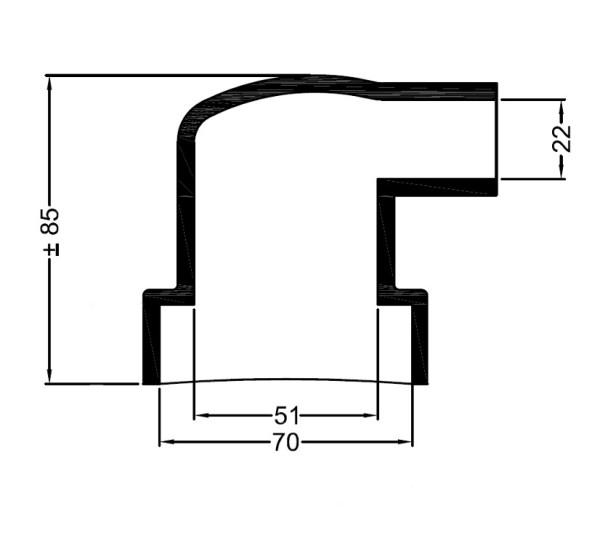 2679 Bowman lammonv. kumipääty 70 mm/22 mm