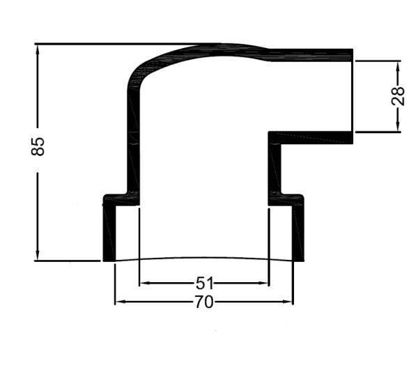 3186 Bowman  kumipääty 70 mm/28 mm