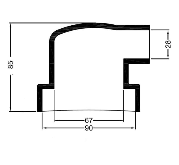 3192 Bowman lammonv. kumipääty 90 mm/28 mm