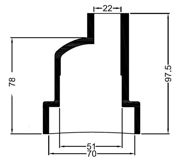 3251 Bowman lammonv. kumipääty 70 mm/22 mm