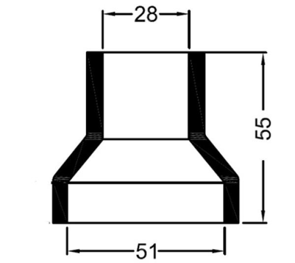 3366 Bowman lammonv. kumipääty 50 mm/28 mm
