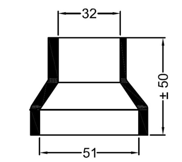 3367 Bowman  kumipääty 50 mm/32 mm