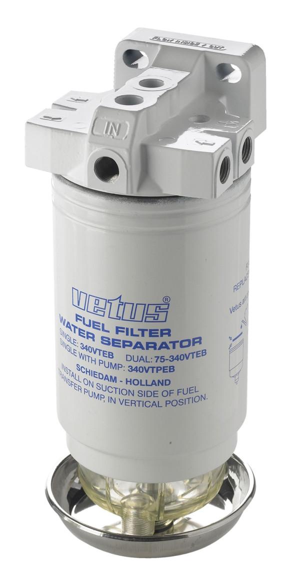 Polttoainesuodatin/vedenerotin 10 mikronia 10 mm