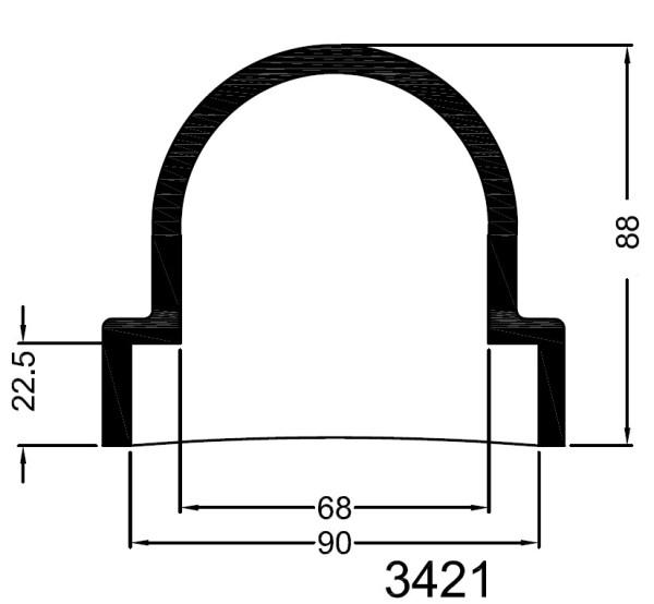 3421 Bowman  kumipääty 90 mm, sokea