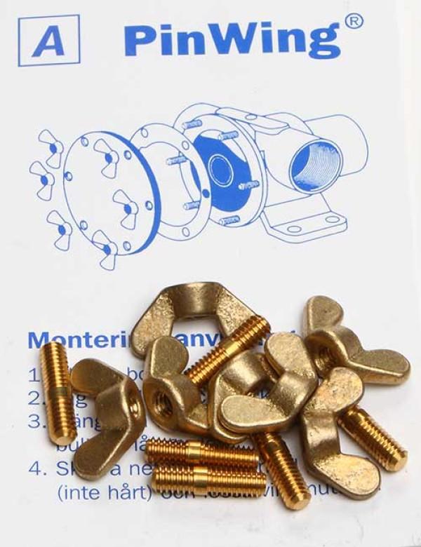 UNC 8-32 x M4 Siipiruuvisarja