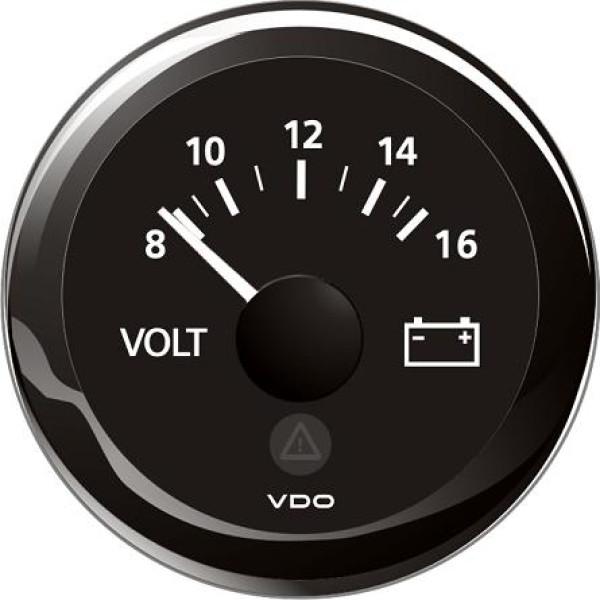 VDO Volttimittari 8-16V Ø 52mm