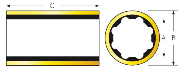 Kumilaakeri Ø1x11/2x4 BR tuumaa