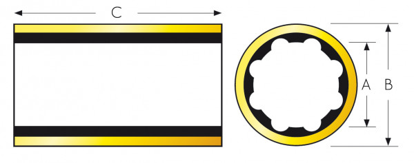 Kumilaakeri Ø11/2x2x6 PH tuumaa