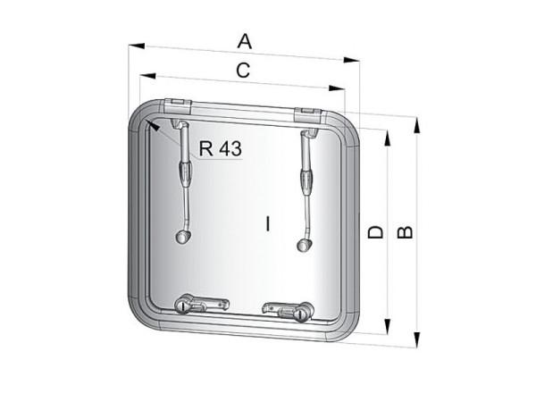 Altus ALT4242SL kansiluukku (asennusaukko 421x421 mm)