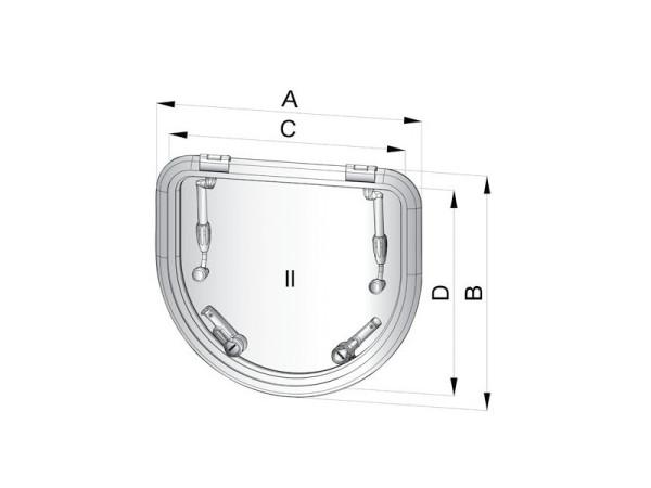 Altus ALTD520SL kansiluukku (asennusaukko 518x450 mm)
