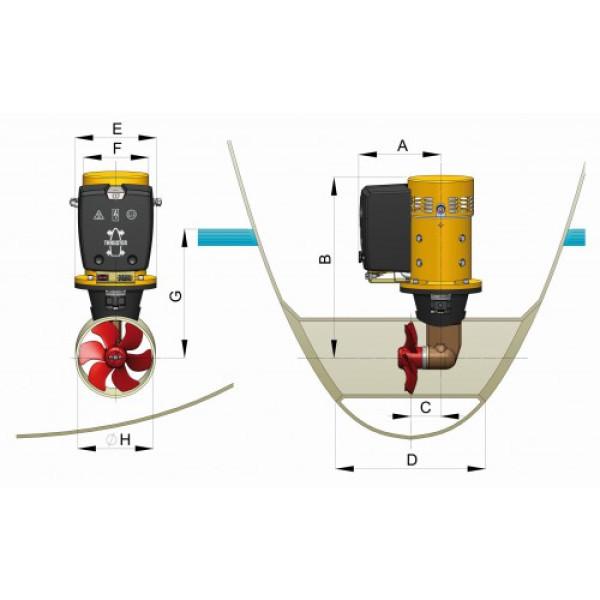 Keulapotkuri 12 V, Ø250 mm BOW125 Vetus