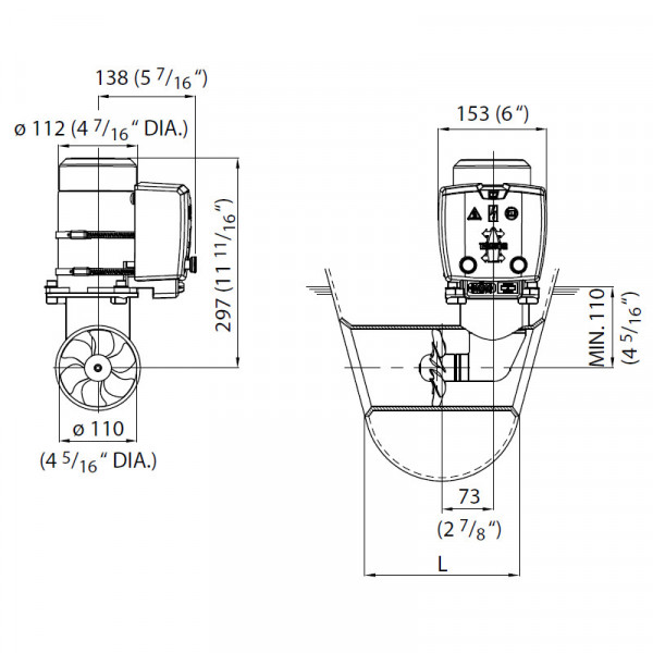 Keulapotkuri 25 kgf, 12 V, Ø 110 mm BOW25