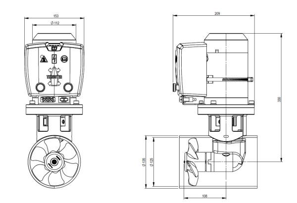 Keulapotkuri 35 Kgf, 12 V, Ø 125 mm BOW35