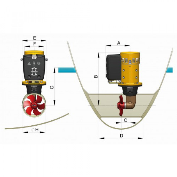 Keulapotkuri 95 kgf, 12 V, Ø 185 mm BOW95