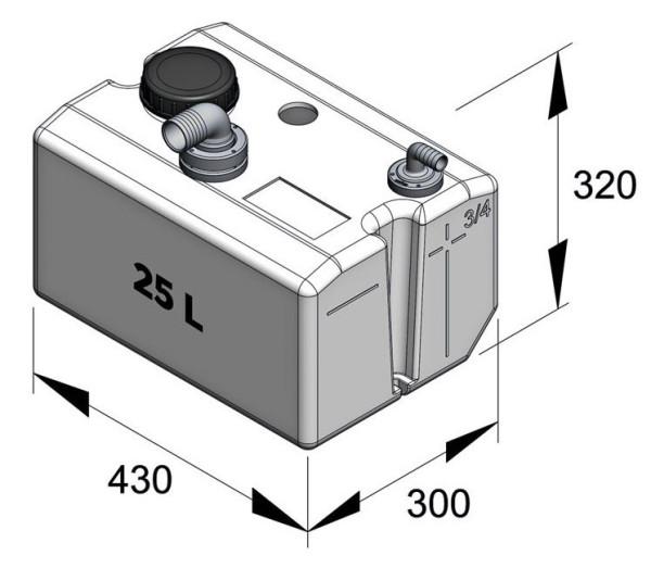 Septitankki 25 l, sisältää liittimet Comfort