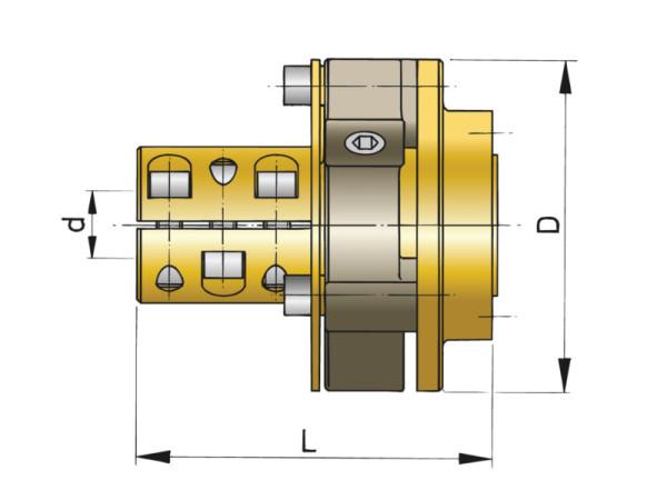 Joustava kytkin Bullflex 8, akseli Ø 35 mm