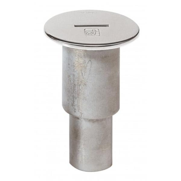 Imutyhjennysruuvike WC AISI 316, Ø 38 mm letkulle,