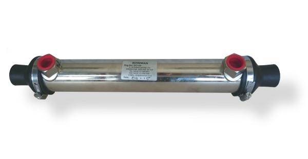 DC120 lämmönvaihdin, vesi Ø22, öljy R1/2