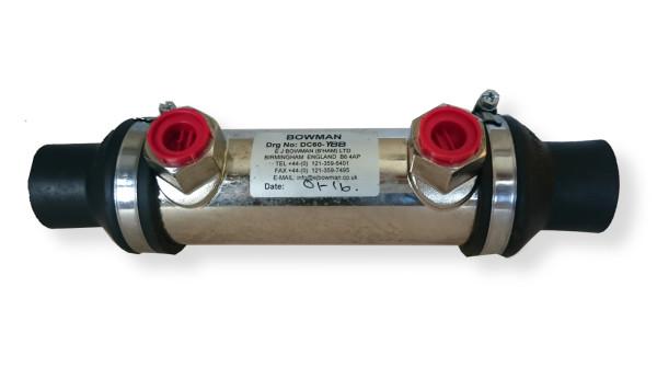 DC60 lämmönvaihdin, vesi Ø28, öljy R1/2