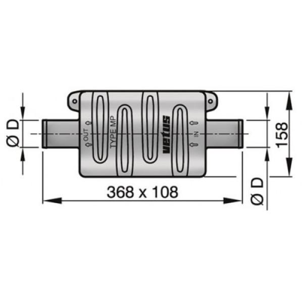 Äänenvaimennin MP50 Ø 50 mm