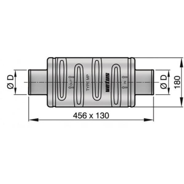 Äänenvaimennin MP75 Ø 75 mm