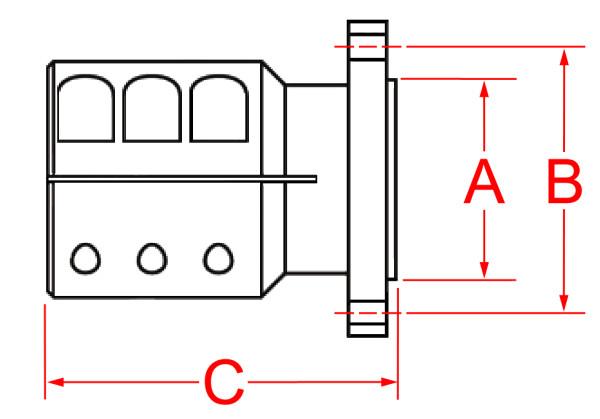 Akselilaippa ZF 4,  Ø 35 mm akselille