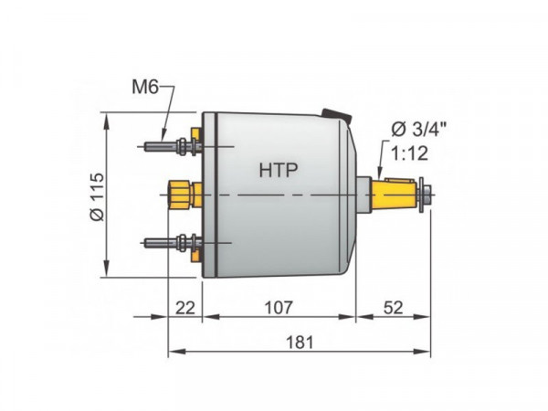 Vetus HTP20 ohjauspumppu 10 mm:n putkelle