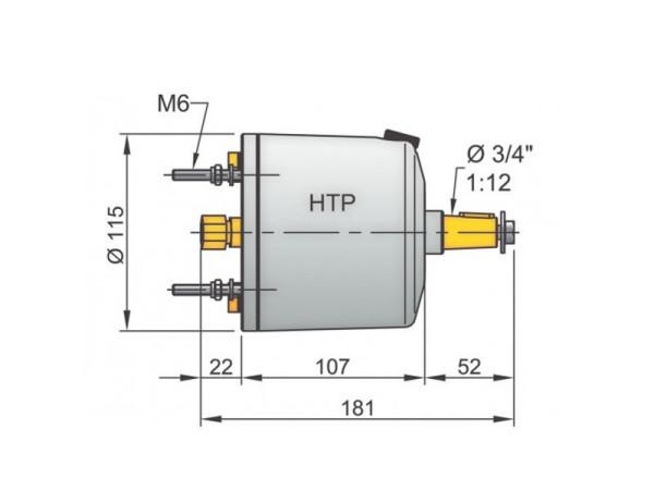 Vetus HTP30 ohjauspumppu 10 mm:n putkelle