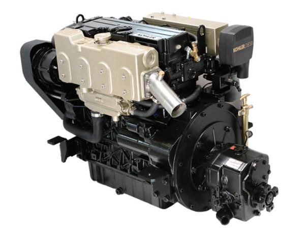50 hp @2600 rpm. Lombardini Kohler meridiesel TMC260 vaihteella 2:1