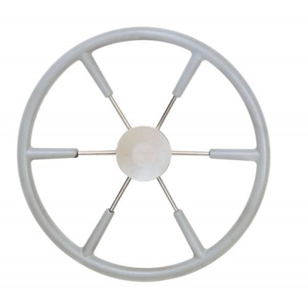 Ohjauspyörä KS45 Ø 450 mm, polyuretaani, harmaa