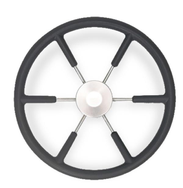 Ohjauspyörä KS55 Ø 550 mm, polyuretaani, musta