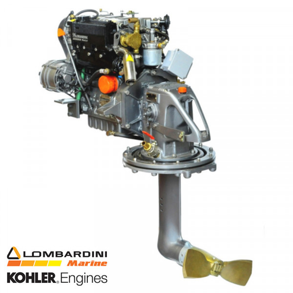27 hp/19,5 kW Lombardini moottori Sail Drive 2.18:1 LDW1003SD