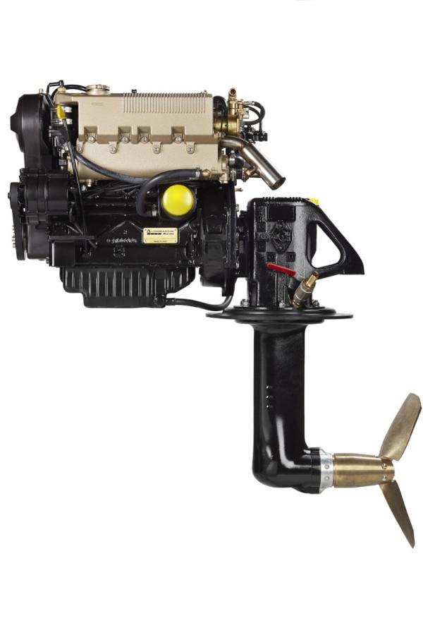 35 hp/25,5 kW Lombardini Sail-Drive 2.18:1 merimoottori LDW1404SD