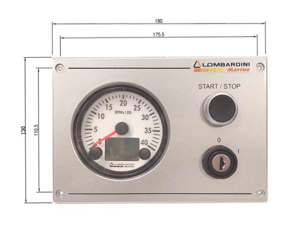 11 hp/8,1 kW Lombardini 2.0:1 LDW502M merimoottori