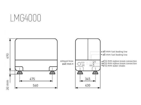 Aggregaatti 6 kVA - 3,2 kW 230 Volt 1LD440