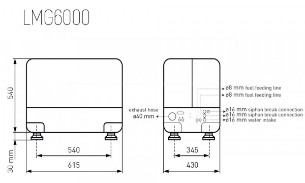 Aggregaatti 6 kVA - 5 kW 230 Volt 1LD440