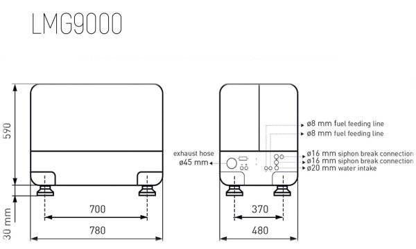 Aggregaatti 10 kVA - 8 kW 230 Volt 1LD440