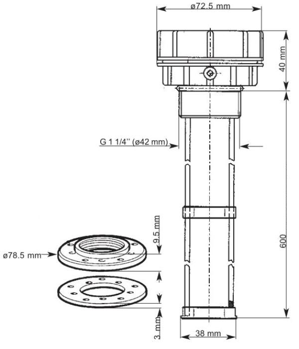 Septitankkianturi 200-600mm kapasitiivinen