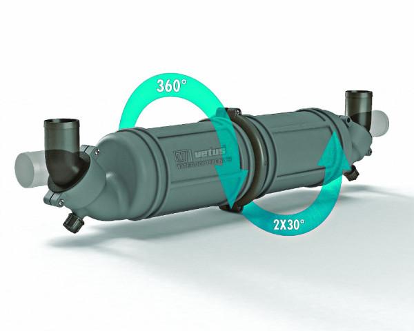 Vattenlås/ljuddämpare i plast NLPH liitäntä