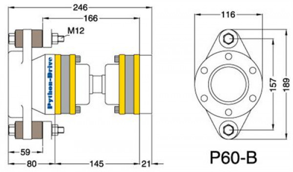 P60B Nivelyksikkö (noin 30 - 70 hp)