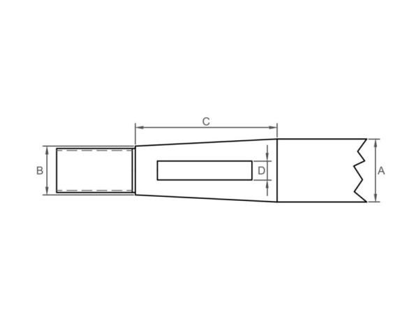 Ø25 Potkuriakseli ISO STD.