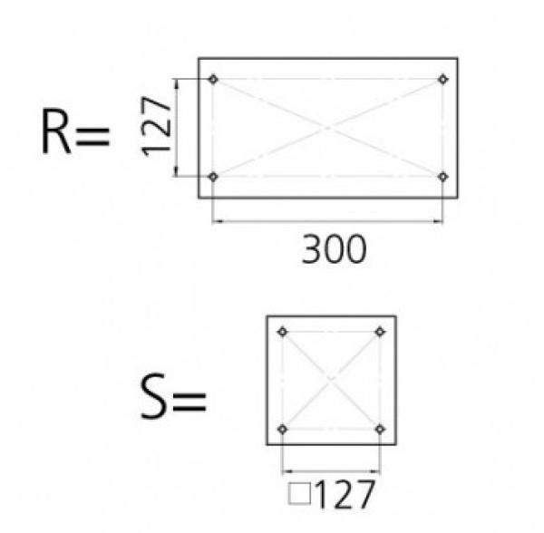 Istuinjalka 330 mm liukulevyllä