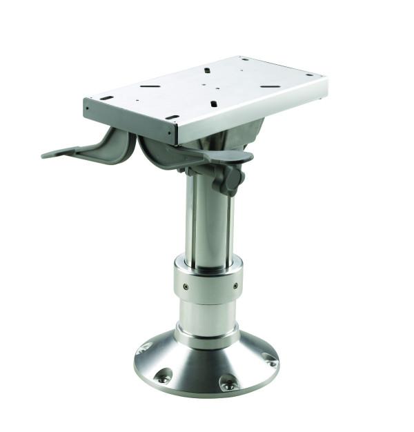Istuinjalka korkeussäädöllä ja liukulevyllä 300-400 mm
