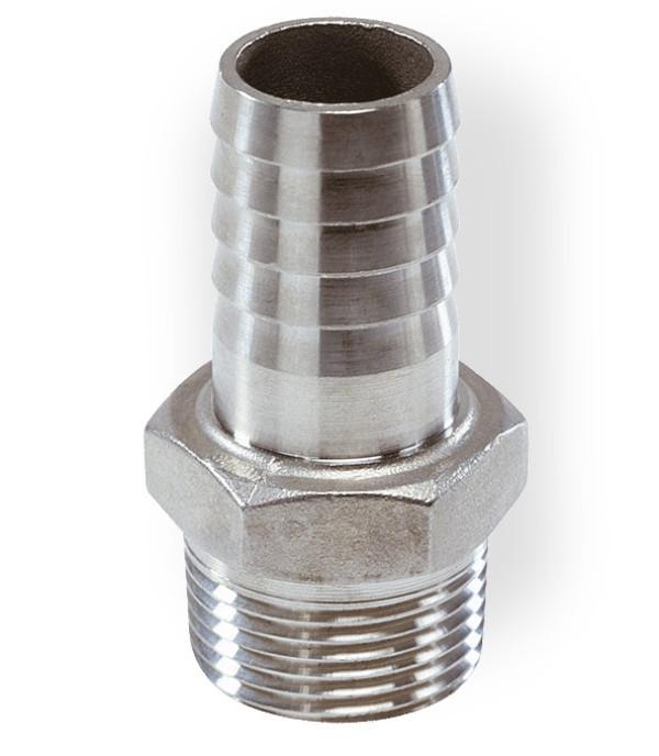 Haponkestävä letkukara, Ø15 mm, kierre G1/2