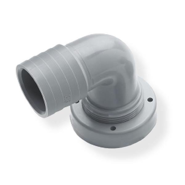 Letkuliitin Ø 38 mm, 90°, kiinteille säiliöille