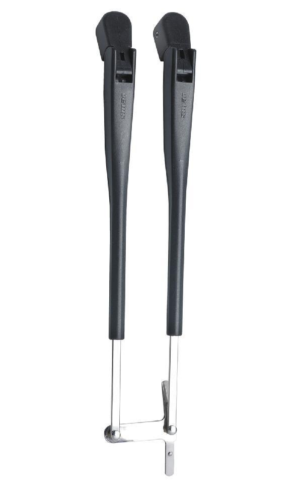 Pyyhkijän kaksoisvarsi 308 - 393 mm, musta, RWS-mo