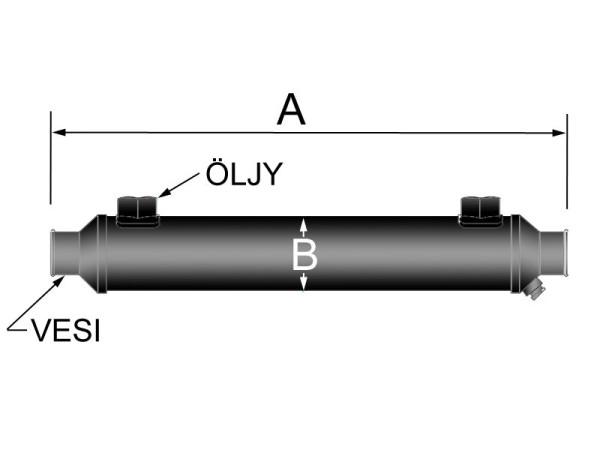 Öljylammonvaihdin vesi Ø25/ öljy NPT3/8 Sen-Dure