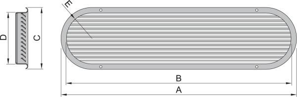 Imuilmaventtiili malli 125, AISI316/ alumiini